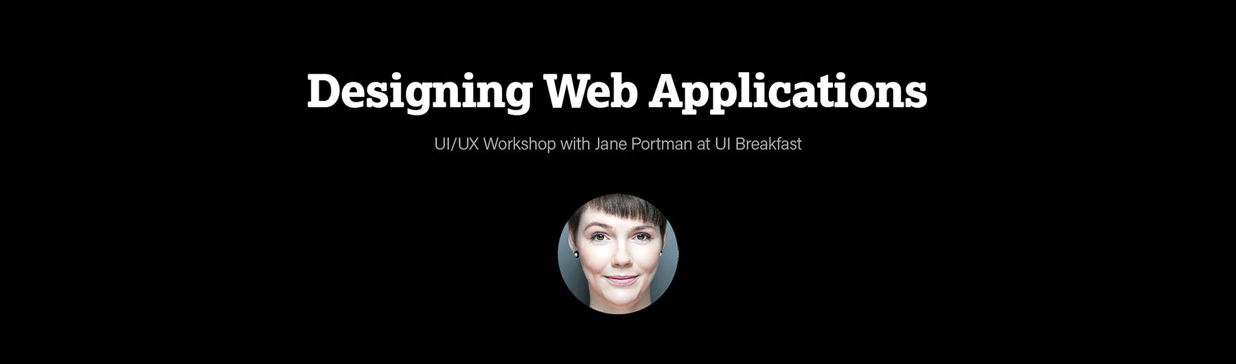 Designing Web Applications (Evening Workshop)
