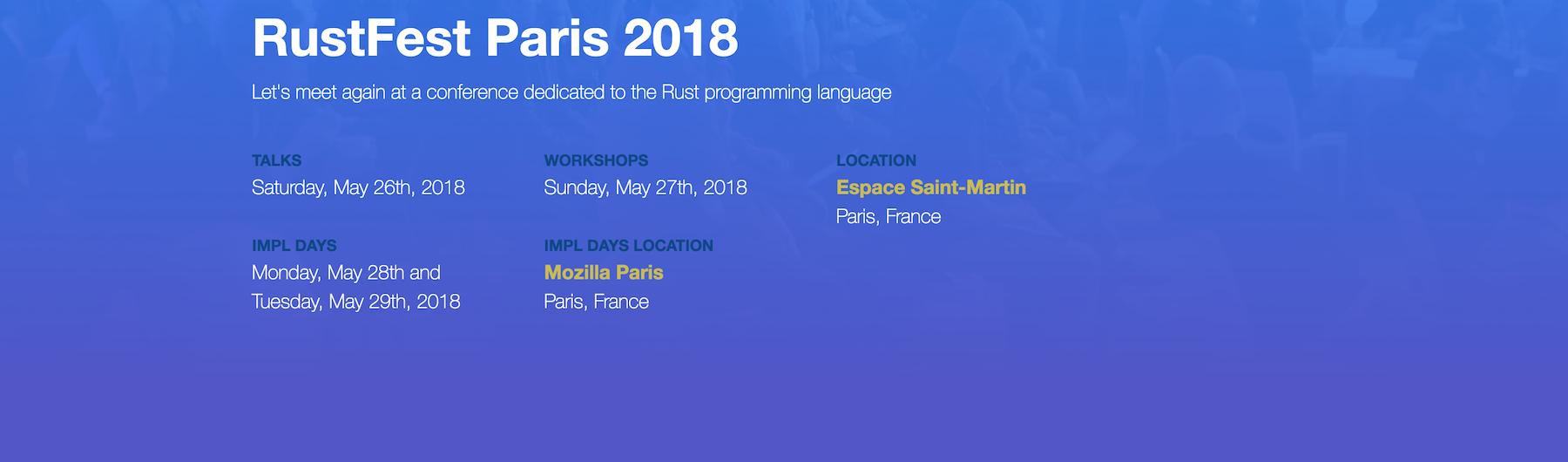 RustFest Paris 2018