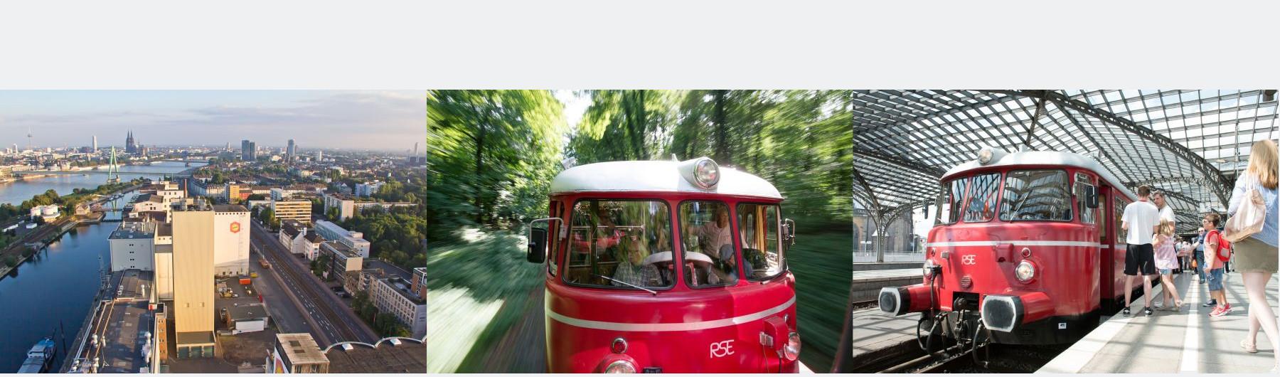 Schienenbustour: Rund um Köln und auf der Klüttenbahn bis Frechen am Sonntag, 29. Juli 2018 um 16.50 Uhr