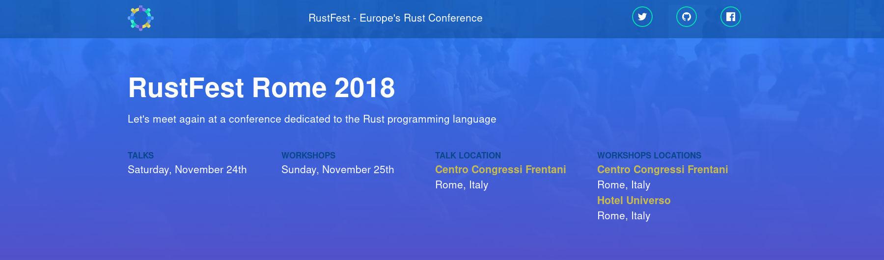 RustFest Rome 2018