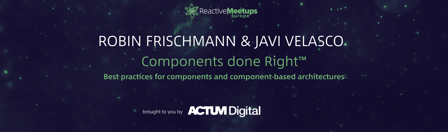 ReactiveMeetups Prague | Frischmann & Velasco