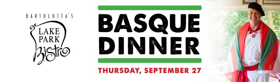 Basque Dinner at Lake Park Bistro